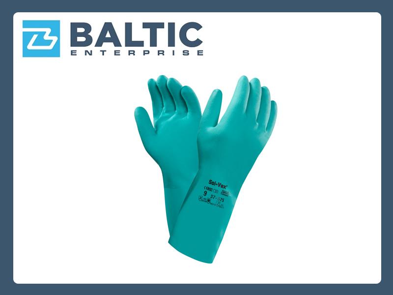 Rękawice chemioodporne, kwasoodporne, rękawice nitrylowe Ansell Solvex